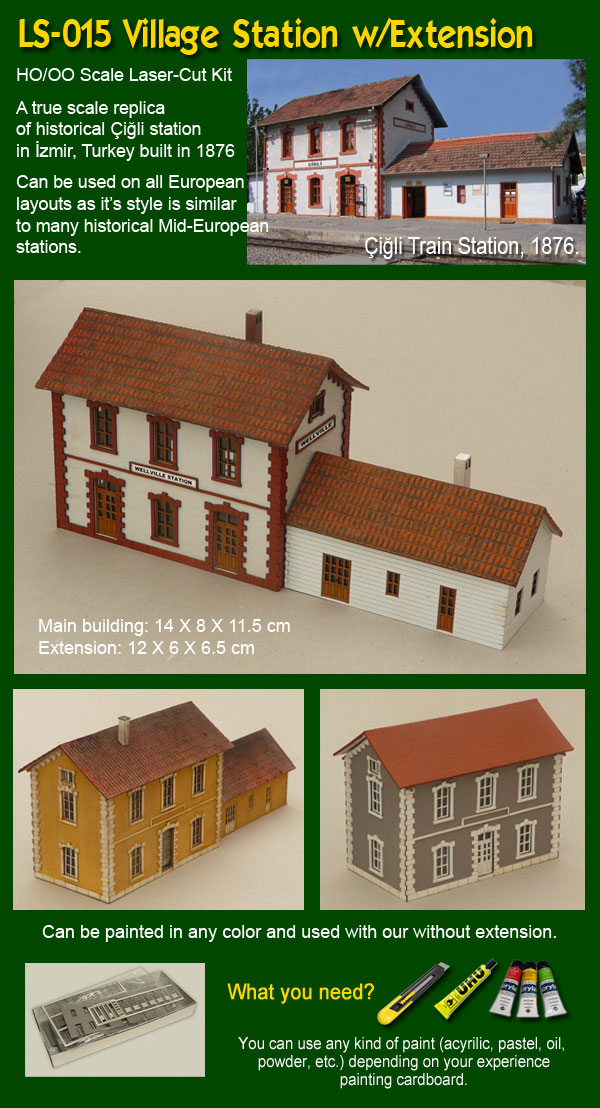 HO/OO Village Station Kit - Proses Hobby Shop