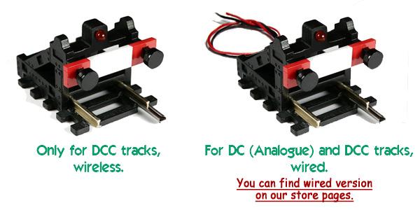 DCC Wireless HO//OO Scale Buffer Stop w//Light